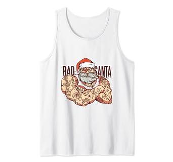 Amazon.com: Hipster Rock Santa Claus Tattoo - Camiseta sin ...