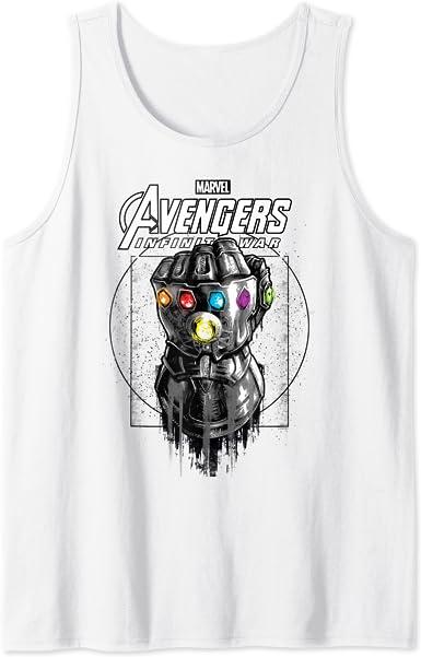 Marvel Infinity War Geo Gauntlet Sketch Camiseta sin Mangas ...