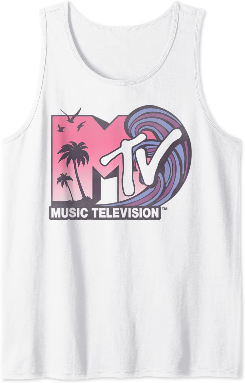 MTV Beach Daily bargain sale Wave Retro Top High material Tank Logo