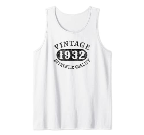 1932 Vintage 87 Years Old 87th Birthday, Anniversary Gift Tank Top