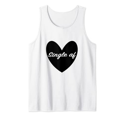 Single Af Sarcastic Dating Valentines Day Goth Heart Tank Top