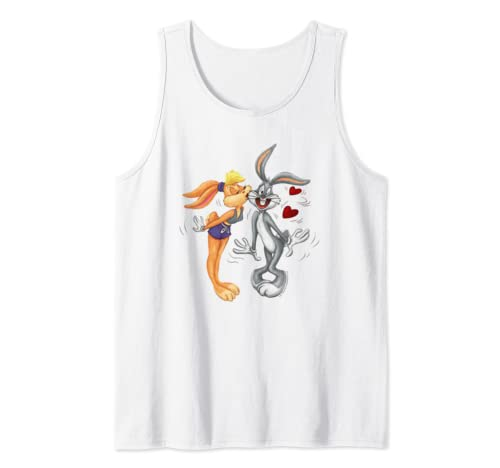 Looney Tunes Bugs And Lola Kiss Valentine's Day Tank Top