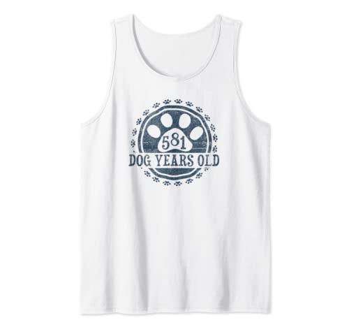 581 Dog Years Old, 83 In Human 83rd Birthday Gift Idea Tank Top