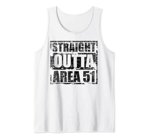 Straight Outta Area 51 Funny Nevada 09/20/19 Alien Ufo Et Tank Top
