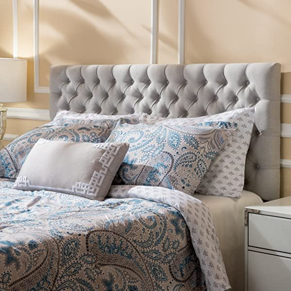 Jezebel Light Grey Fabric Queen Full Headboard By Christopher Knight Home