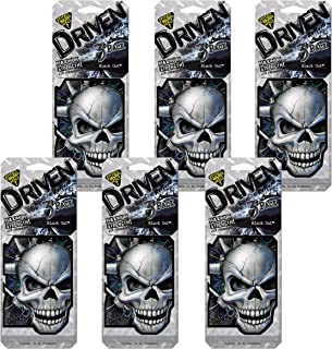 Refresh Your Car! Driven 86107 Scented Paper 3 Per, Black Out, 6-Pack
