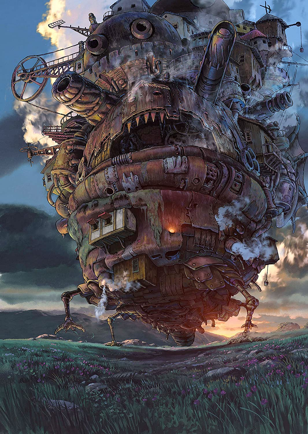 Black Creations Howl's Moving Castle Japanese Anime Poster Canvas Picture Art Print Premium Quality A0 A1 A2 A3 A4 New Best Cheap (A0 Canvas (30 40))