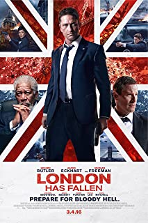 WMG London Has Fallen - Movie Poster (2016), Size 24 x 36 Inches, Glossy Photo Paper (Thick 8mil): Gerard Butler, Aaron Eckhart