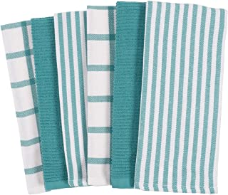KAF Home Mixed Flat & Terry Kitchen Towels | Set of 6 18 x 28 Inches | 4 Flat Weave..