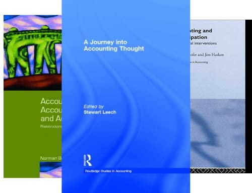 Routledge Studies in Accounting (33 Book Series)