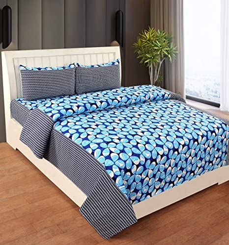 RD TREND Microfiber King Size Double bedsheet with 2 Pillow Cover