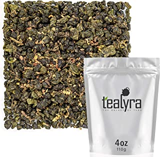 Tealyra - Osmanthus Gui Hua Oolong - Taiwanese Oolong Loose Leafe Tea - Sweet and Aromatic Taste - Organically Produced - 110g (4-ounce)