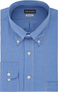 Mens Dress Shirts Regular Fit Gingham Button Down Collar