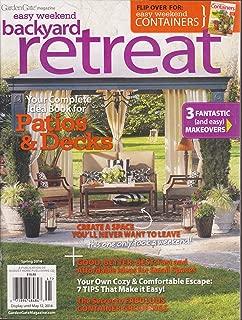 Garden Gate Magazine Easy Weekend Backyard Retreat Magazine Spring 2014