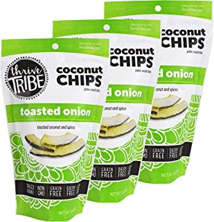 Thrive Tribe Paleo Coconut Chips, Toasted Onion, 3.14 oz (Pack of 3)