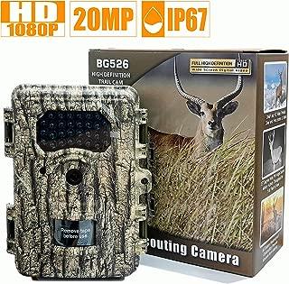 Boskoncam Trail Camera 20MP 1080P 0.5s Trigger Time IP66 Waterproof Game Camera 2.4
