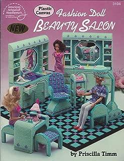 Plastic canvas fashion doll beauty salon