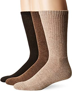 CHAPS mens Assorted Solid Mock Rib Casual Crew Socks (3 Pack)