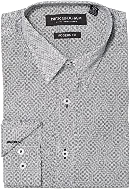 Nick Graham - Square Hole Print Stretch Shirt
