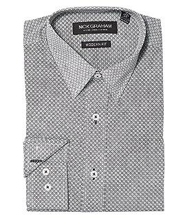 Square Hole Print Stretch Shirt