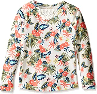Roxy Girls' Big Marquise of Waves Macrame Long Sleeve Shirt