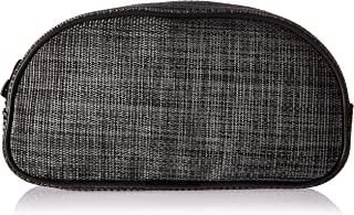 DII Toiletry Bag, Portable Travel Organizer, Cosmetic Make up Bag for Women, Men Accessories, Shampoo, Personal Items, Medicine Pouch - Half Round Black