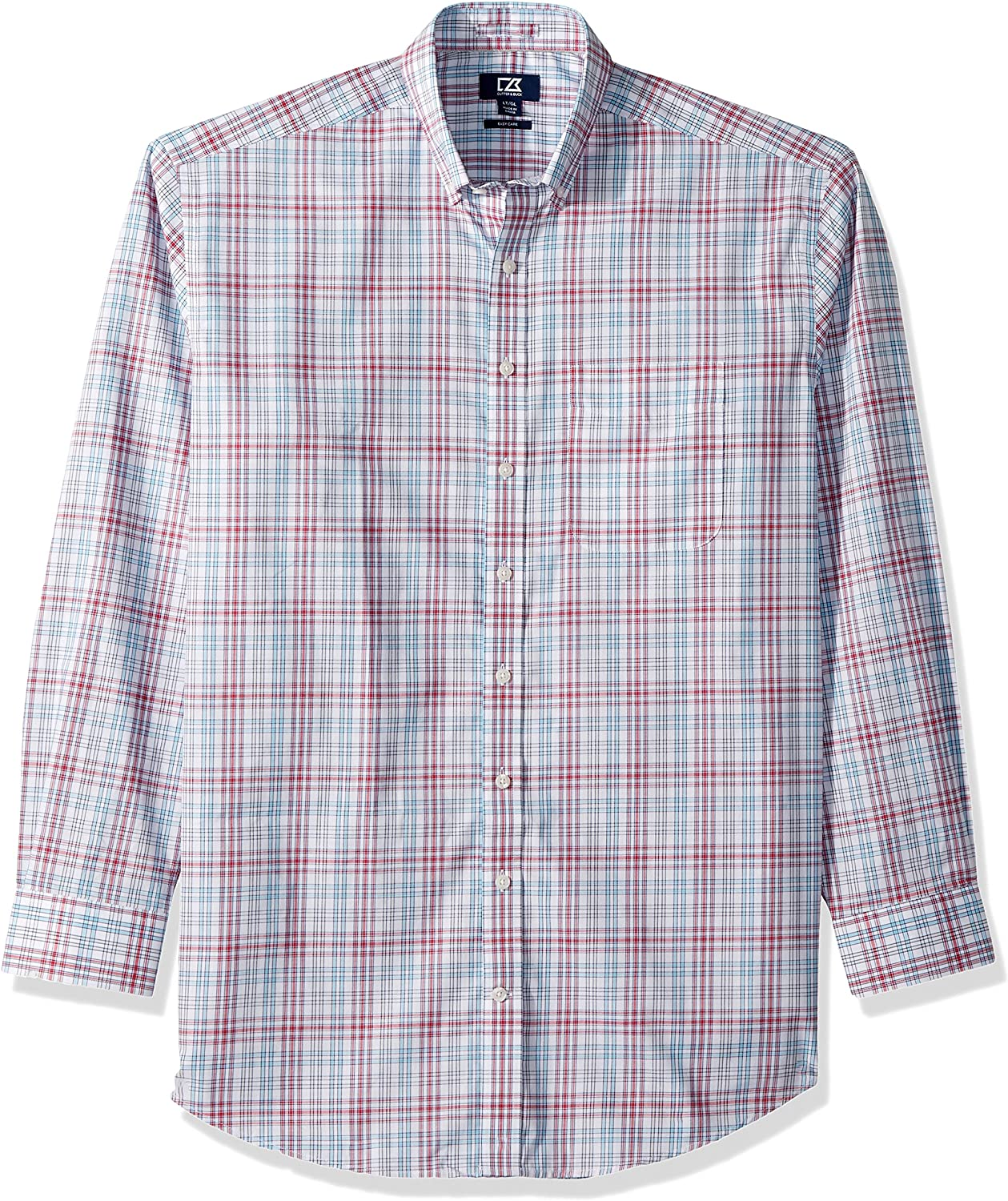 Cheap bargain Cutter Buck Men's Medium Plaid and Care Easy Button Overseas parallel import regular item Check Down