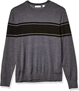 Calvin Klein Mens Merino Sweater Crew Neck