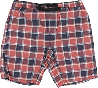 Mens Plaid Belted Casual Walking Shorts