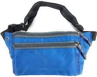 Maxx Gear Unisex Adult 3-Pocket Slim Waist Pack (Ocean Blue)
