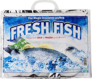 Jay Bags FL-340 Large Insulated Grocery Bag, Keeps Fish Cold or Frozen up to 3 Hours,