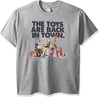 Disney Men's Story The Toys are Back in Town Graphic T-Shirt