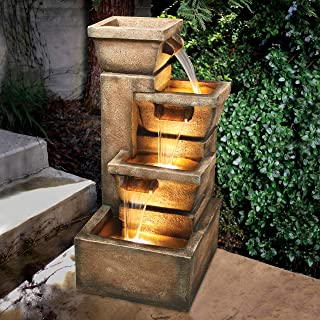 Amazon com: Stone - Fountains / Outdoor Décor: Patio, Lawn