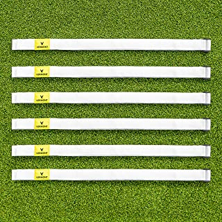 Vermont Volleyball Net Tension Straps [6 Pack] - Plastic Tension Hook & Loop Buckle