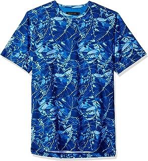 Bugatchi Men's Cotton Jersey Classic Blue All Over Print T-Shirt