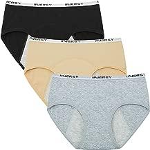 Innersy Big Girls' Panties Menstrual Period Panties Protective Cotton Hipster Panties Underwear 3-Pack