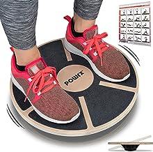 POWRX Stepper Houten Balance Board I Stepbankje voor proprioceptieve training en fysiotherapie incl. Workout I-therapiegyr...