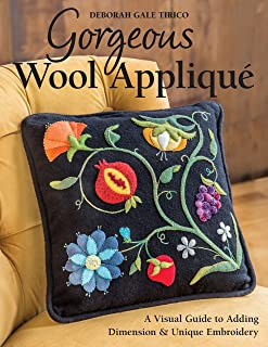 embroidery stitches for wool applique