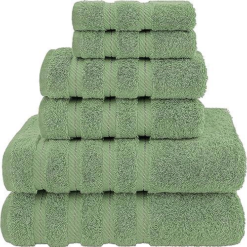 American Soft Linen Towel Set, 2 Bath Towels 2 Hand Towels 2 Washcloths Super Soft and Absorbent 100% Turkish Cotton ...