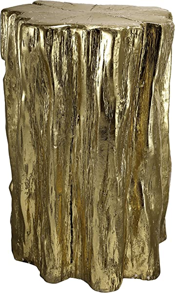 A B Home Nature Inspired Gold Tree Trunk Garden Stool Or End Table