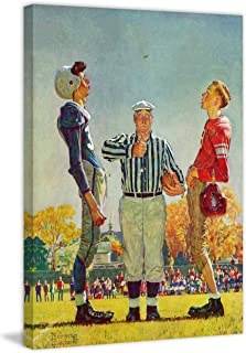 Marmont Hill 30x39 Coin Toss by Norman Rockwell Painting Print on Wrapped Canvas, 30