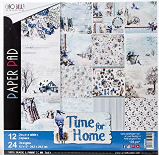 Ciao Bella Paper - Papeles Scrapbooking Time For Home (30 x 30 cm)