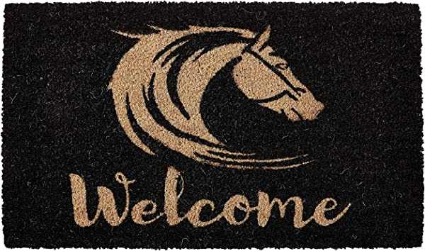 Calloway Mills 102191729 Stallion Welcome Doormat 17 X 29 Natural Black