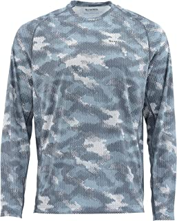 Simms Men's Solarflex, UPF 50 UV Sun Protection, Outdoor Long Sleeve Performance Fishing Shirt