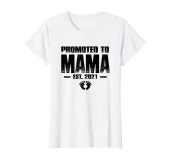 Best Mothers Day Gifts 2021 Amazon.com: Womens Promoted To Mama Shirt Est 2021 Mother's Day