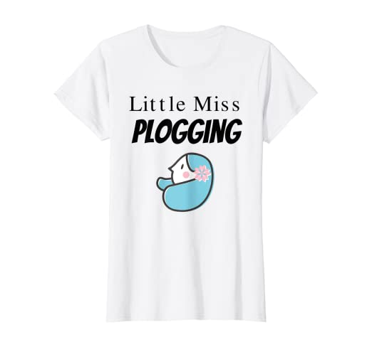 Cute girly Kawaii Little Miss Plogging Eco Running T-Shirt