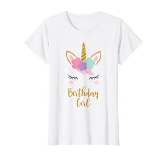 Amazon.com: Camiseta de cumpleaños de unicornio, regalo de ...