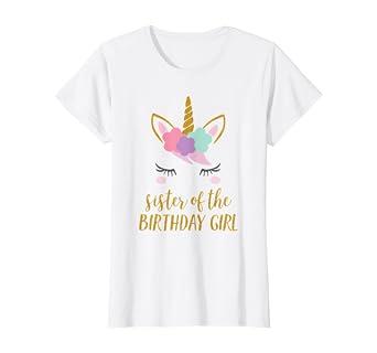 Amazon.com: Unicornio hermana, hermana de la camisa playera ...