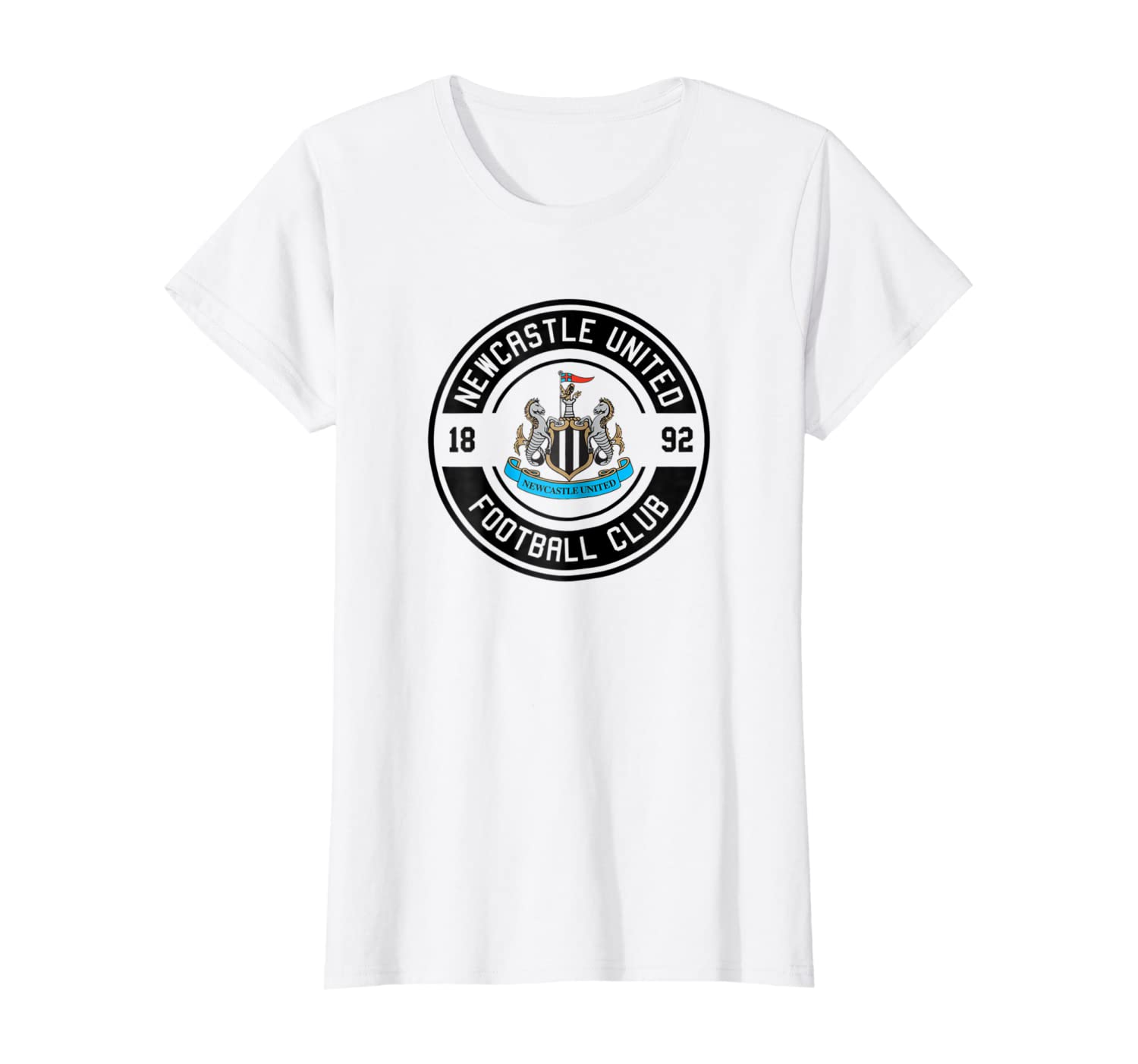 Newcastle United Color Crest Patch T-shirt White