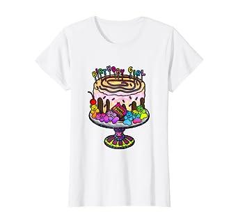Surprising Amazon Com Birthday Girl Gummy Bear Birthday Cake T Shirt Clothing Funny Birthday Cards Online Benoljebrpdamsfinfo